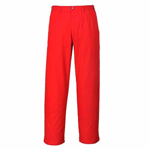 sUw - Bizweld Sicherheitshose, feuerbeständig, 40 Waist - 33 inch Leg, rot, 1 -
