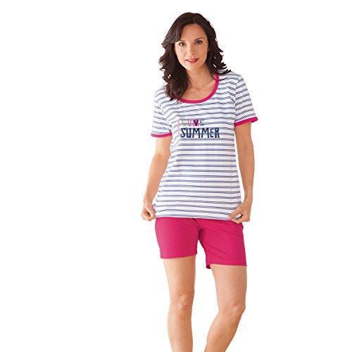 laritaM Shorty mit Druckmotiv Oberteil Single-Jersey Pink