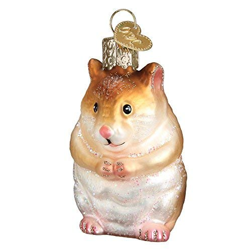 Old World 12530 Christbaumschmuck Hamster (Little Shop-hamster Pet)
