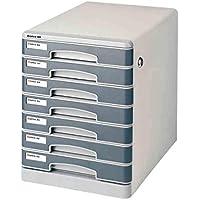 Archivo del cajón del gabinete del organizador del almacenaje de archivos de datos de escritorio Gabinete antideslizante Mats aleación de aluminio Línea Estructura turística de superficie de metales 1