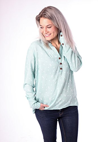 alife and Kickin Daisy C Blouse M, Teal AOP -