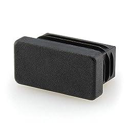 GLEITGUT 4 x Lamellenstopfen 40x20 mm Endkappen f/ür Vierkantrohr Stuhlstopfen rechteckig