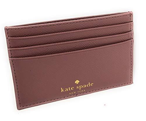 Kate Spade New York Graham Greta Court Wallet Business Credit Card Case Glitter Dusty Peony (Kate Glitter Geldbörse Spade)