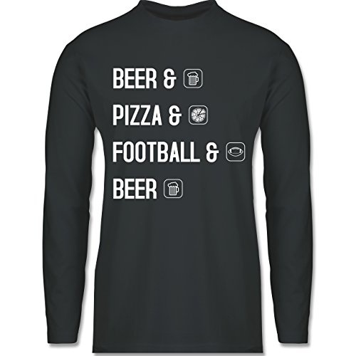 Sonstige Sportarten - Beer Pizza Football Beer - Longsleeve / langärmeliges  T-Shirt für Herren