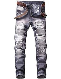 0f0cf7d0a011f Bold Manner Jeans Denim Homme Déchiré Délavé Vintage ...