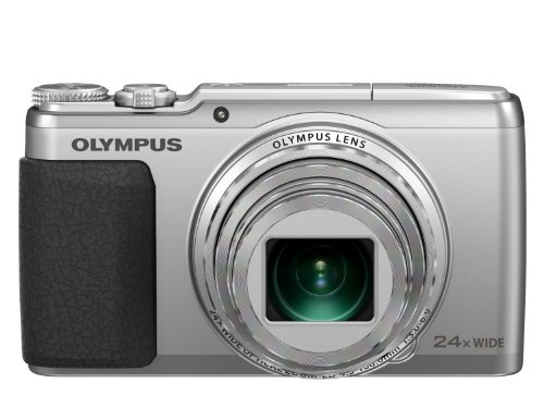 Olympus SH-50 16MP Point and Shoot Camera (Silver) with 24x Optical Zoom