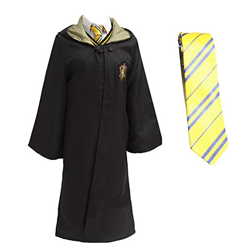 LOVCRY Halloween Umhang Karneval Kostüm Cosplay Zauberei Cape mit Krawatte (Gelb, ()