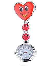 Sanwood Women's Smiling Faces Nurse Fob Pocket Watch