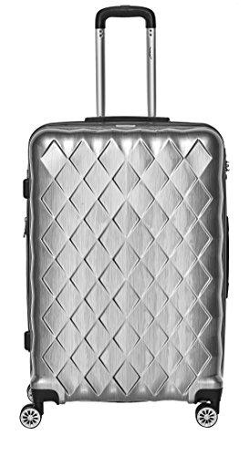 Hartschalen Polycarbonat Koffer 'Atlantic' 28 Zoll (Größe XL) (Silber)
