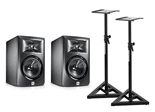 JBL LSR 305 Aktiv Studio Monitor PAAR SET + Stative