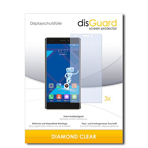 3 x disGuard® Schutzfolie Haier Phone L53 Bildschirmschutz Folie