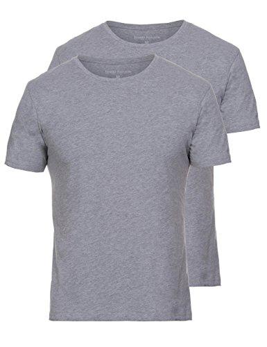 Bruno Banani Herren Unterhemd Shirt 2er Pack Pure Cotton, 2er Pack, Grau (Graumelange 103) Preisvergleich