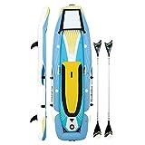 YTBLF Kayak Doble, Bote Inflable Sup Remo Dos en uno, Que Incluye 2 remos de Aluminio, 2 Asientos inflables de Alta presión