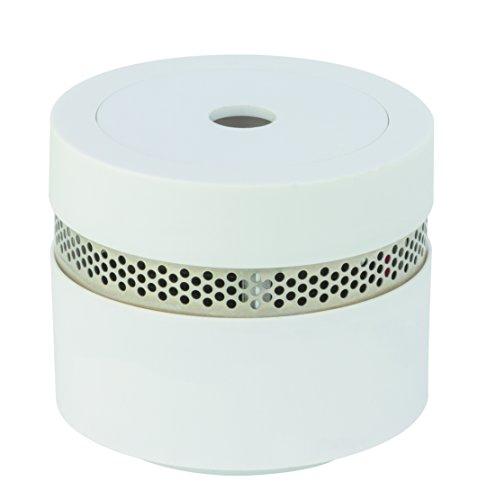 Preisvergleich Produktbild DESIGN RAUCHMELDER MINI  VdS zertifizierter Rauchmelder 10 Jahre Batterie von REV   Brandmelder geprüft nach DIN EN 14604  Feuermelder extra-klein  Weiß
