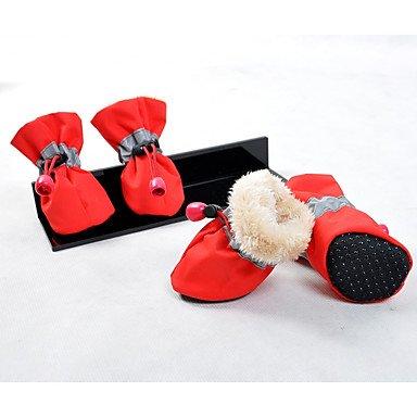 Y-Hui Hund Hüte, Kappen & Amp; Bandanas Stiefel Hund Kleidung Casual/Täglich warm halten Neues Jahr's Solid Rot Rosa Blau Rot Grau Schwarz, Xl, Rot (Rosa Stiefel Mops)