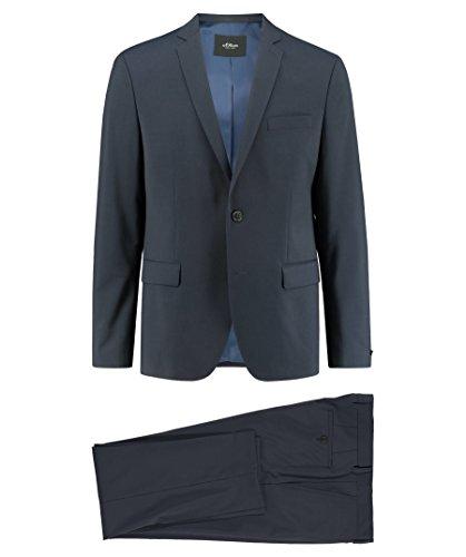 s.Oliver Black Label Herren Anzug Regular Fit blau (296) 98