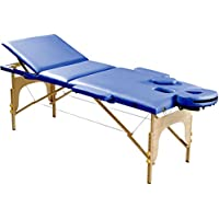 Sportplus Table de massage Ultra Confortable - Mousse Rigide 5 cm d'épaisseur - Similicuir PU Certifié non polluant - Capacité de Charge : 200 kg - Housse de Transport incluse - Pliable