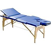 Sportplus Table de massage Ultra Confortable - Mousse Rigide 5 cm d'épaisseur - Similicuir PU Certifié non polluant - Capacité de Charge: 200kg - Housse de Transport incluse - Pliable