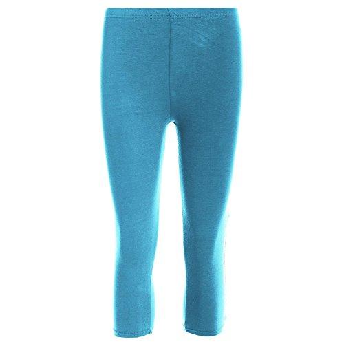 Pour femme Longueur 3/4 en coton femme-Collant Stretch Collant court pour entraînement de gymnastique/YOGA Corsaire de vélo Turquoise - Turquoise