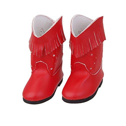 Preisvergleich Produktbild Stiefel Puppenschuhe Mini Schuhe Rot für American Girl Puppen