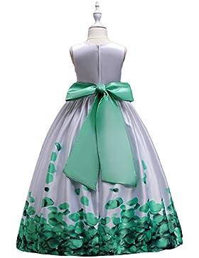 Fiore Ragazze estivo Abito Principessa Pageant Vestito da Cerimonia per la damigella Floreale Matrimonio Carnevale...