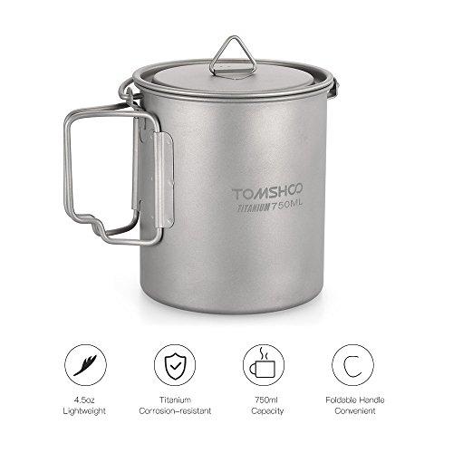 Zoom IMG-1 tomshoo ultralight 750ml titanium pot