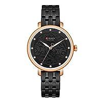 sycamorie Watch - Female Quartz Watch Waterproof Fashionable Casual For Curren Steel Strap Watch