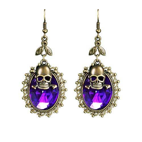 Tropfen Ohrringe Damen-Ohrringe Stud Schädel erschreckend Ohrring für Style Schmuck Mädchen/Jungen Halloween Party Prom