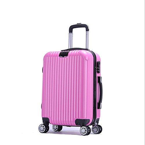 Xiuxiandianju 20 pollici 24 pollici business computer check in valigia gli uomini e le donne Wanxiang Lun ABS-PC bagagli piccoli viaggi casella password (56-75 L) , pink , 20 inch