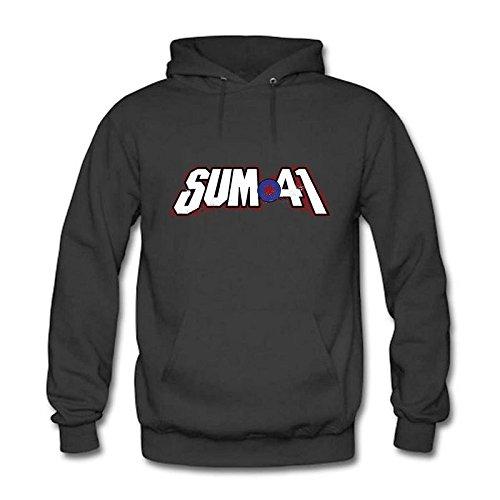 Women's Slim Fit Short Sleeve SUM 41 Logo Casual Round Neck T-Shirts Tees Black M