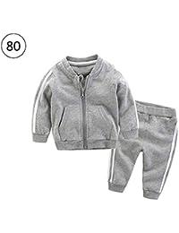 Ropa de bebé unisex de 2 piezas, chaqueta deportiva informal, pantalones bonitos para exterior