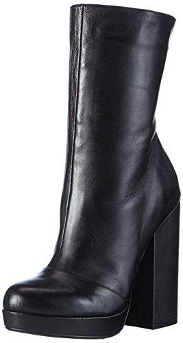 Buffalo London Damen 414-1109 SILK LEATHER Kurzschaft Stiefel, Schwarz (BLACK 01), 39 EU