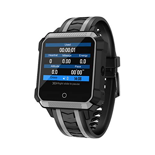 Smart Wristband, Smart Watch Phone 4G Android WiFi GPS SIM Sport Smartwatch 5.0 MP Fotocamera Voice Translate Orologio da Polso da Uomo Donna,Black