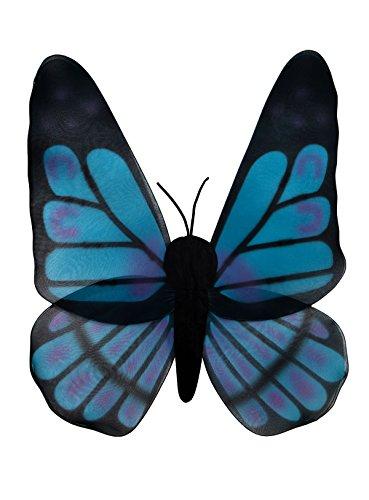 Leg Avenue - Schmetterlingsflügel schwarz-türkis - (Kostüm Und Schwarze Fee Die Blaue)