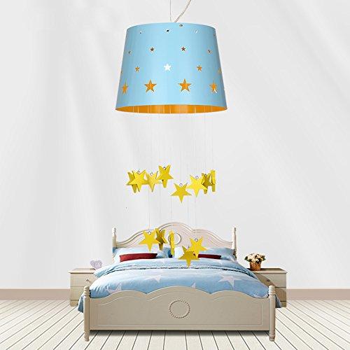 Moderne minimalistische Sterne traumhaften Mädchen oder Jungen Schlafzimmer Kronleuchter Kinderzimmer Pendelleuchte 1 Licht