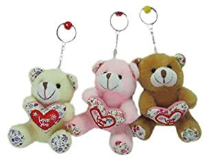 Tickles Stuffed Soft toy Lovely Teddy keychain (Set of Three) 10 cm