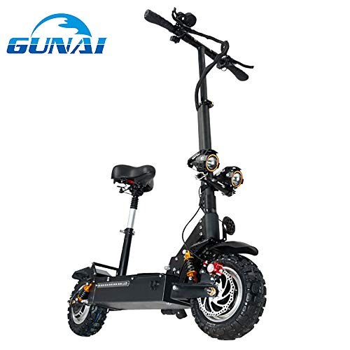 GUNAI 3200W Trottinette électrique Pliable avec 60V Batterie Au Lithium Vitesse Maximum 85km / h
