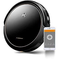 Aspirateur Robot Connecté Wi-Fi, Alexa et App Control, modes de nettoyage 6 en 1,Station de chargement, Cartographie Système, Navigation GRYO, Autonomie de 120 minutes pour Mince Tapis et Sols Durs