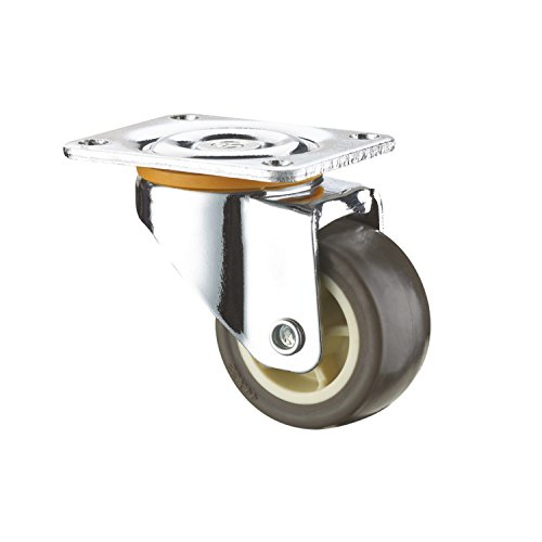 SUPO 25mm Derlin Bush Bearing Thermo Plastic Rubber Swivel Plate Caster Wheel (Pack of 4)  available at amazon for Rs.240