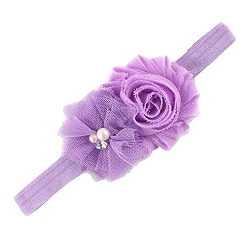 Stirnbänder Transer® Baby Unisex Blume Stirnband Babyschmuck Babygeschenke & Taufe Größe: 0 Monate bis 4,5 Jahre altes Baby (Lila)