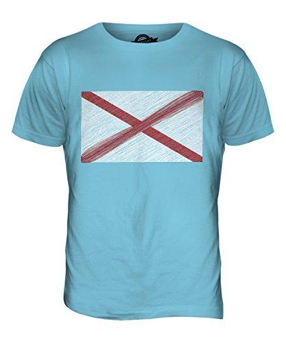 CandyMix Bundesstaat Alabama Kritzelte Flagge Herren T Shirt Himmelblau