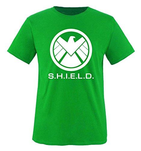 AGENTS OF S.H.I.E.L.D - LOGO - Herren T-Shirt - Grün / Weiss Gr. S (Sh Shirt Sleeve)