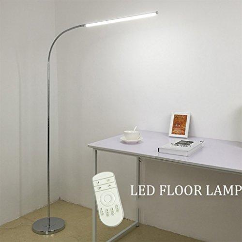 Tageslicht Stehleuchte & LED-Stehlampe, Wohnzimmer Schlafzimmer Studie Augenschutz Mahjong Lesen Klavier Lichter Vertikale Stehleuchte ( Farbe : Dimming color+remote control )