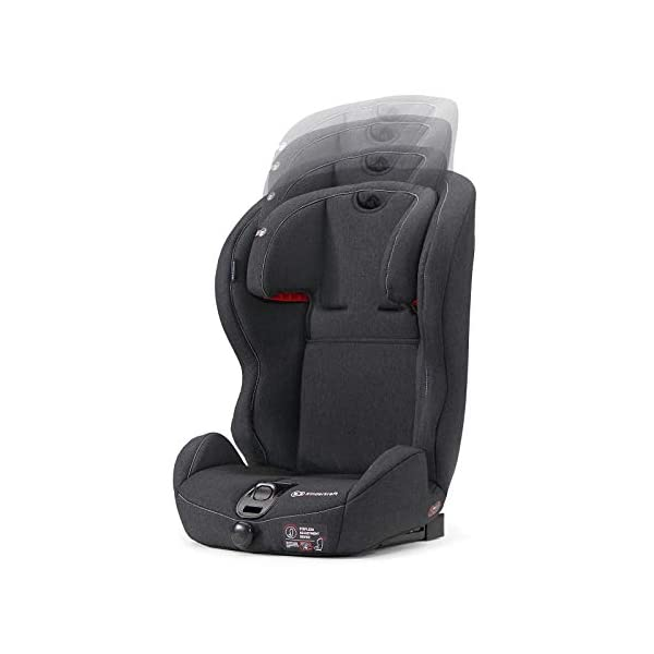 Kinderkraft Safety Fix Baby Car Seat ISOFIX, for Children Weighing 9-36kg - Black kk KinderKraft Car Seat - The Safety-Fix car seat grows together with your child. Secure - Equipped with fixing system ISOFIX + TOP TETHER, which guarantees a stable and safe position for your child. Comfort - Hight adjustable 5-point internal harness and 10-step adjustment headrest means the seat will serve your child for years. 5