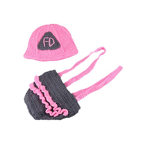 W&P wp Neugeborene Fotografie Kostüm Baby-Hand-Woven rosa -
