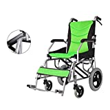 CXYG-Rollstull Aluminum Alloy Wheelchair, Folding/Portable/Ultra Light Old Hand Push Scooter, Disabled Wheelchair, Green