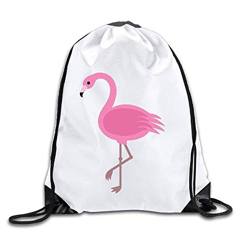 Etryrt Prämie Turnbeutel/Sportbeutel, Unisex Drawstring Bags Pink Flamingos Drawstring Pouch Backpack, Ideal for Gym and Sports Workout
