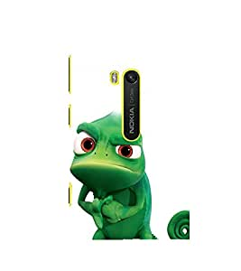 printtech Chameleon Cartoon Back Case Cover for Nokia Lumia 920 / Microsoft Lumia 920