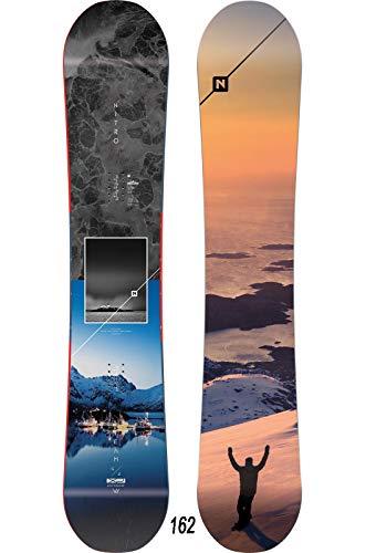 Nitro Snowboards Herren Team Exposure Wide Gullwing '20 All Mountain Directional Twin Freestyle Board für große Füße Snowboard, Mehrfarbig, 162 cm -
