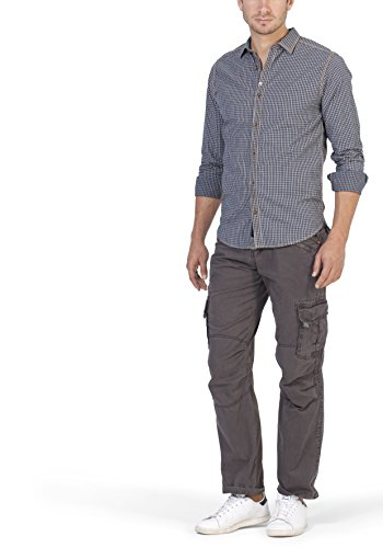 Timezone Herren Freizeithemd Donny Shirt Blau (Tiny Blue Check 3083)